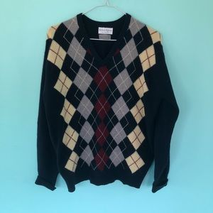Other - Vintage Argyle Sweater